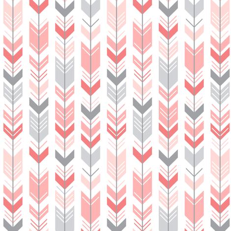 mod baby » herringbone arrows coral fabric by misstiina on Spoonflower - custom fabric