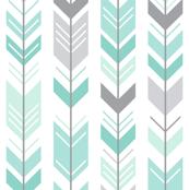 mod baby » herringbone arrows mint