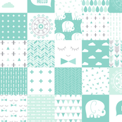 mod baby » cheater quilt mint