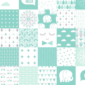 mod baby » mint wholecloth cheater quilt 4in