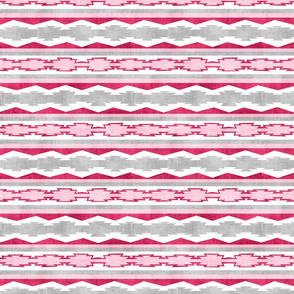 Pink Southwestern Geometric Stripe