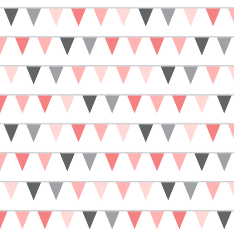 mod baby » bunting coral fabric by misstiina on Spoonflower - custom fabric