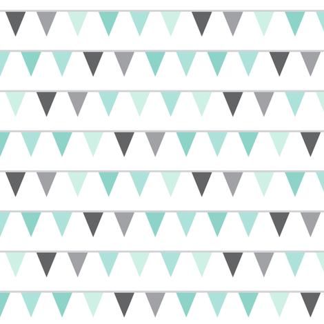 mod baby » bunting mint fabric by misstiina on Spoonflower - custom fabric