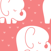 mod baby » sleepy elephants coral