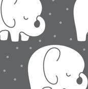 mod baby » sleepy elephants grey