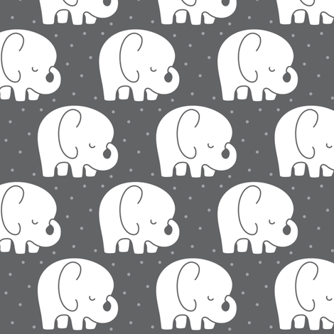 mod baby » sleepy elephants grey fabric by misstiina on Spoonflower - custom fabric