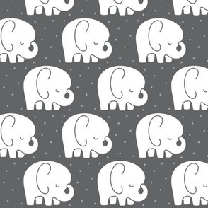 mod baby » sleepy elephants grey