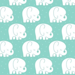 mod baby » sleepy elephants mint