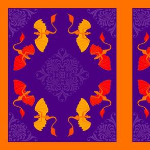 Purple Dragon pillow