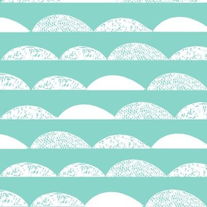 scallop // scallops mint scallop pastel scallops baby nursery coordinate kids cute