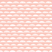 scallops // pale pink scallop baby nursery kids cute girls baby girl