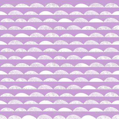 scallops // purple pastel purple scallop fabric