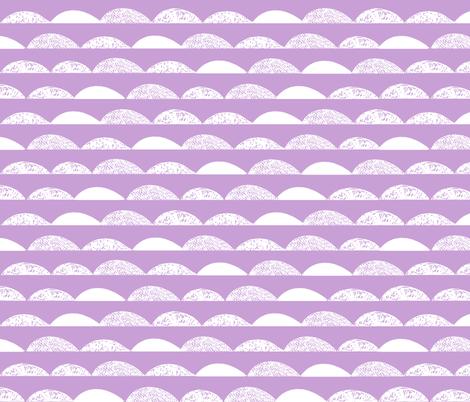 scallops // purple pastel purple scallop fabric fabric by andrea_lauren on Spoonflower - custom fabric