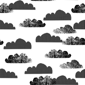 clouds // black and white cloud nursery baby scandi cool trendy nursery baby