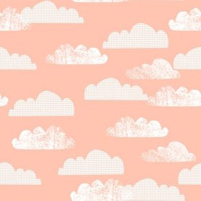 clouds // pink nursery baby clouds cloud sky cute girls baby girl