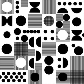 dots // retro scandi black and white dots retro vintage black and white kids lines grid