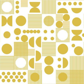 dots // yellow mustard dots scandi retro vintage dots