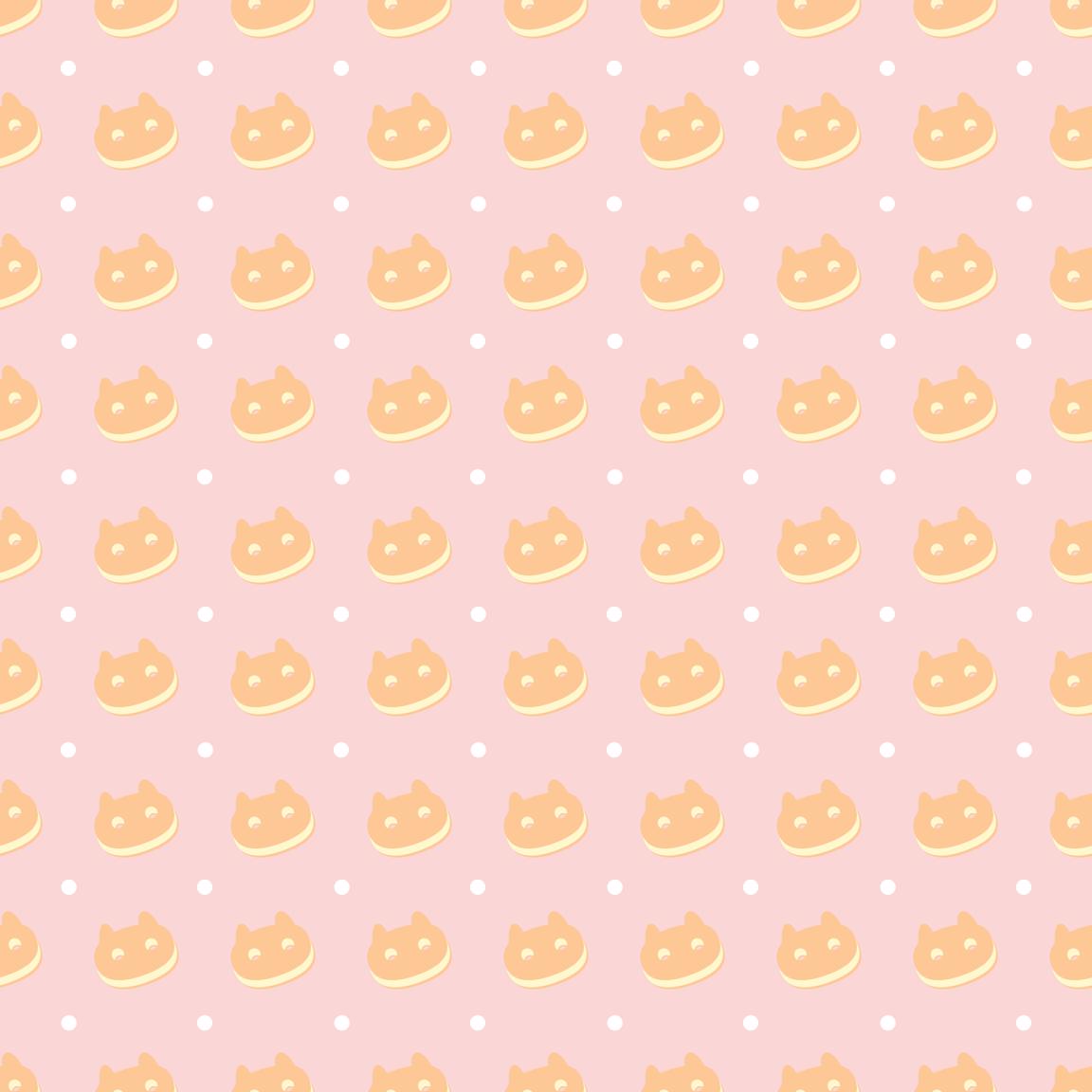 Vanilla Cookie Cat Fabric