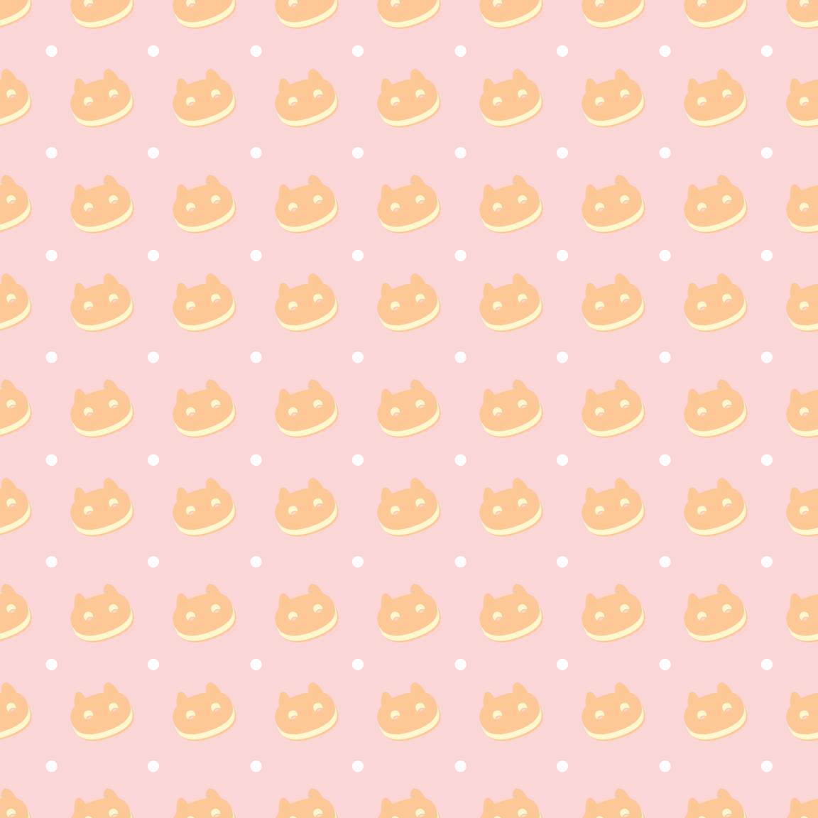 Vanilla Cookie Cat Wallpaper