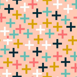 plus // cross swiss cross multi colored sweet girls pink mustard blue girls