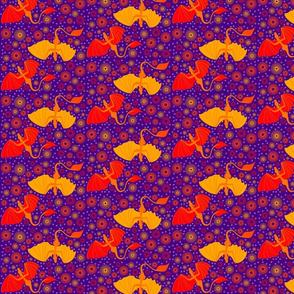 Purple Dragons and spirals