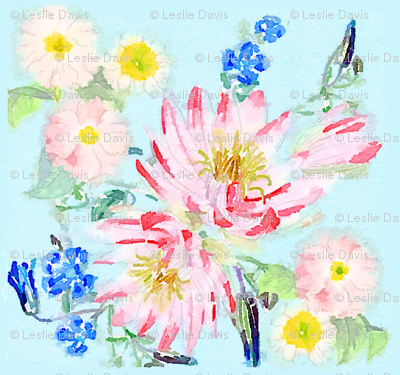 Watercolor Pastel Floral