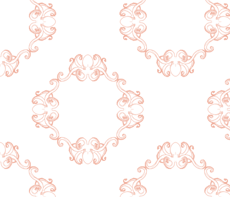 Pink Kraken fabric by theaberranteye on Spoonflower - custom fabric