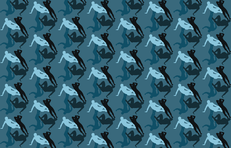 Sexy Man Camo-Blue fabric by undercovernerd on Spoonflower - custom fabric