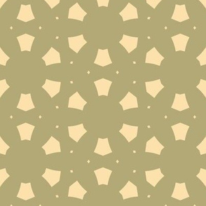 Abstract Circles in Tan and Green