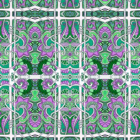 Purple Paisley Cornucopia Fields fabric by edsel2084 on Spoonflower - custom fabric