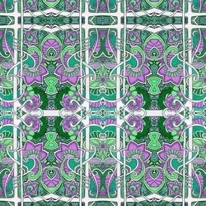 Purple Paisley Cornucopia Fields