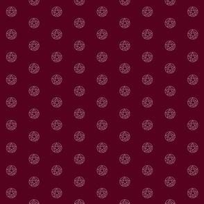 devil's trap (p.dot)-maroon