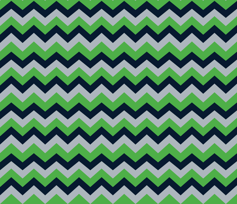 Seattle Seahawks Chevron fabric by fabricology on Spoonflower - custom fabric