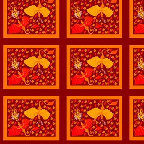 fire dragons and leaves block