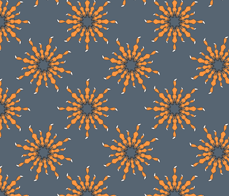 Orange on Denim  fabric by theaberranteye on Spoonflower - custom fabric