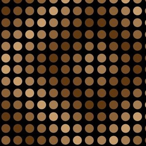 Polka dots brown on black diamond