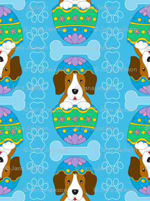 Easter Beagle (blue)
