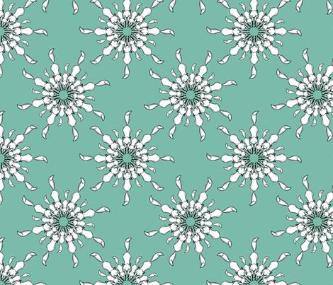 Sketchy Fox (aqua) fabric by theaberranteye on Spoonflower - custom fabric