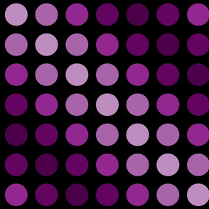 Violet magenta polka dots.