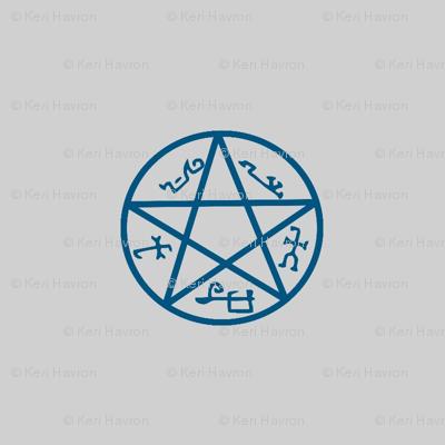 devil's trap (p.dot)-grey/blue