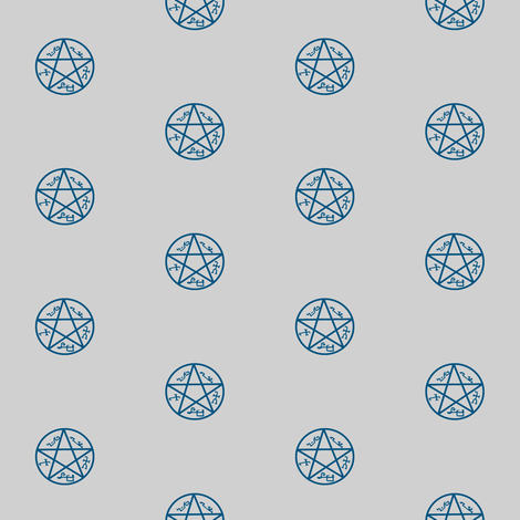 devil's trap (p.dot)-grey/blue fabric by bella_irae on Spoonflower - custom fabric