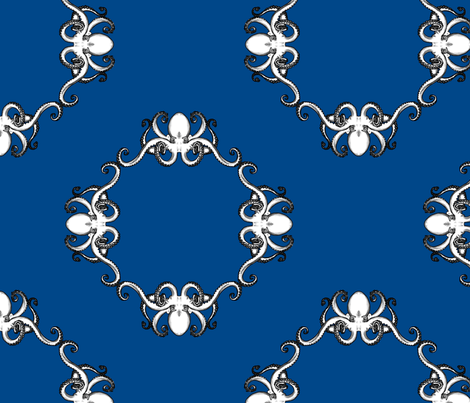 blue fabric by theaberranteye on Spoonflower - custom fabric