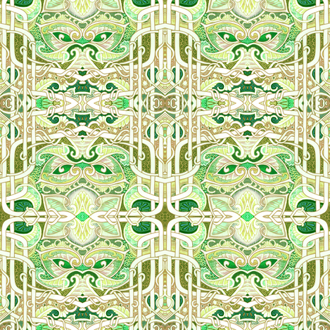 Fancy Dancy Garden Block #4096520  fabric by edsel2084 on Spoonflower - custom fabric