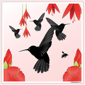 Charm of Humming Birds Pillow
