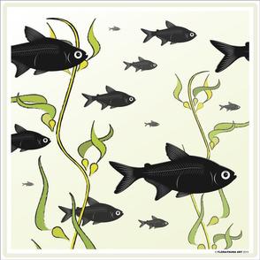 School of X-Ray Fish Pillow