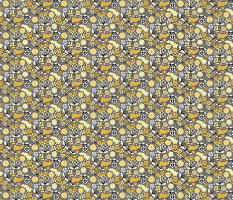 Bumbles & Blooms fabric by designs_by_lisa_k on Spoonflower - custom fabric