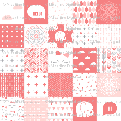 mod baby » cheater quilt coral