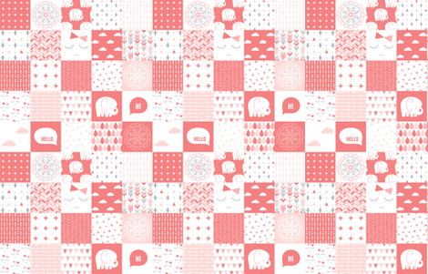 mod baby » cheater quilt coral fabric by misstiina on Spoonflower - custom fabric