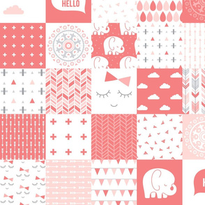 mod baby » coral wholecloth cheater quilt 4in