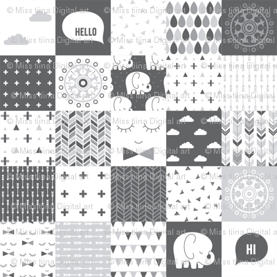 mod baby » cheater quilt grey